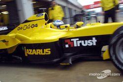 Nick Heidfeld leaves garajı