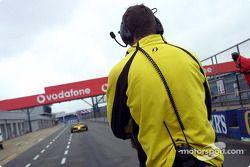 Timo Glock enters pitlane