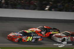 Jeff Gordon, Jamie McMurray and Dale Earnhardt Jr.