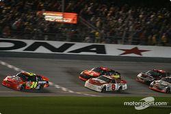 Jeff Gordon leads Dale Earnhardt Jr. and Jamie McMurray