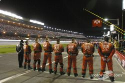 Crew alignment during National Anthem