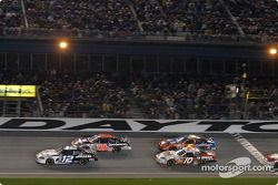 Under yellow: Ryan Newman, Kevin Harvick, Mike Skinner and Terry Labonte