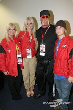 Hulk Hogan and friends visit the members of the pres