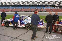 Michael Waltrip's car on pit road