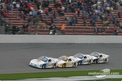 Ryan Newman, Matt Kenseth, Jimmie Johnson et Kevin Harvick