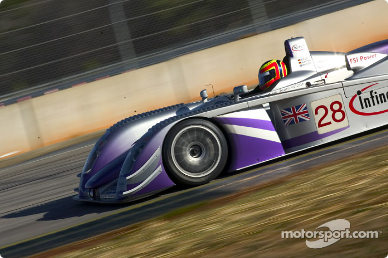 Pierre Kaffer dans l'Audi R8 Audi Sport UK Team Veloqx