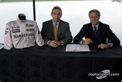 Présentation McLaren - Sparco : Martin Whitmarsh et Diego Basso