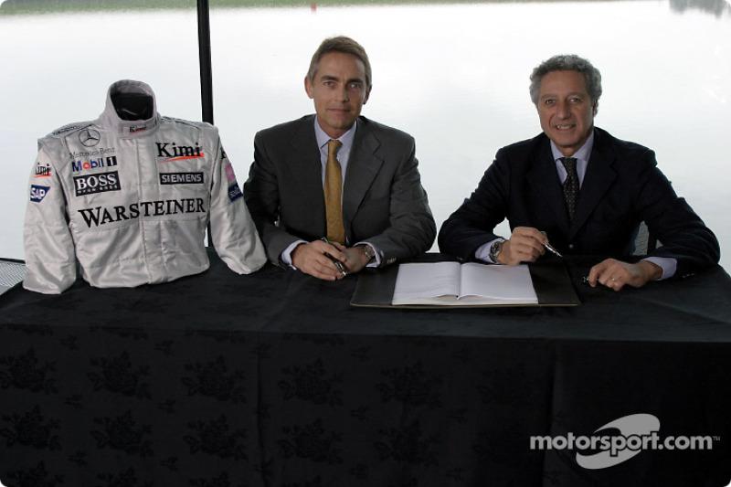 McLaren-Sparco presentation: Martin Whitmarsh and Diego Basso