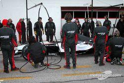 Simulation d'arrêt aux stands pour Minardi