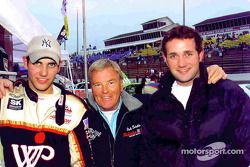 Chris Wimmer with racing legend Dick Trickle and brother Scott Wimmer