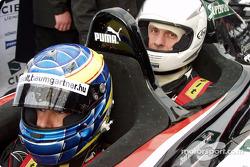 Zsolt Baumgartner takes a passenger Minardi twin-seater streets, Budapest
