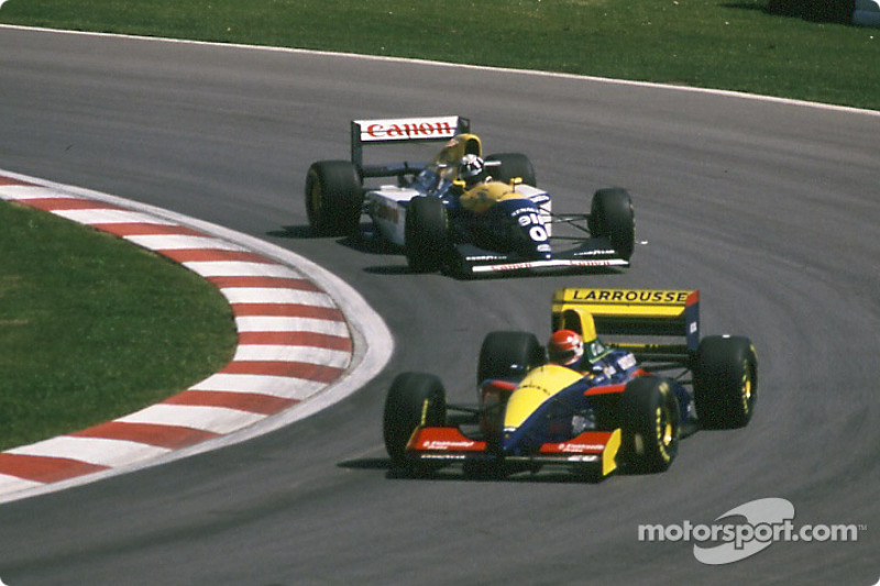 Erik Comas, Larrousse LH93; Damon Hill, Williams FW15C
