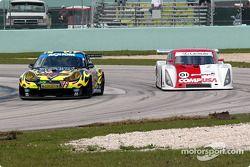 #79 Gunnar Racing Porsche GT3 RS: Gunnar Jeannette, Milt Minter, and #01 CGR Grand Am Lexus Riley: Scott Pruett, Max Papis