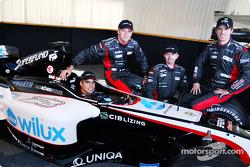 Zsolt Baumgartner, Gianmaria Bruni, Bas Leinders y Tiago Monteiro con el Minardi PS04B