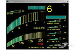 The new Subaru Impreza WRC2004: dashboard, road section information screen