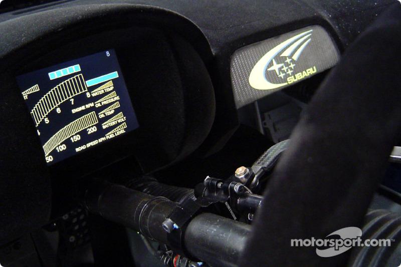 The New Subaru Impreza Wrc2004 Dashboard Information Screen