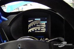 The new Subaru Impreza WRC2004: driver's view of the dashboard