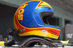Helmet and HANS device