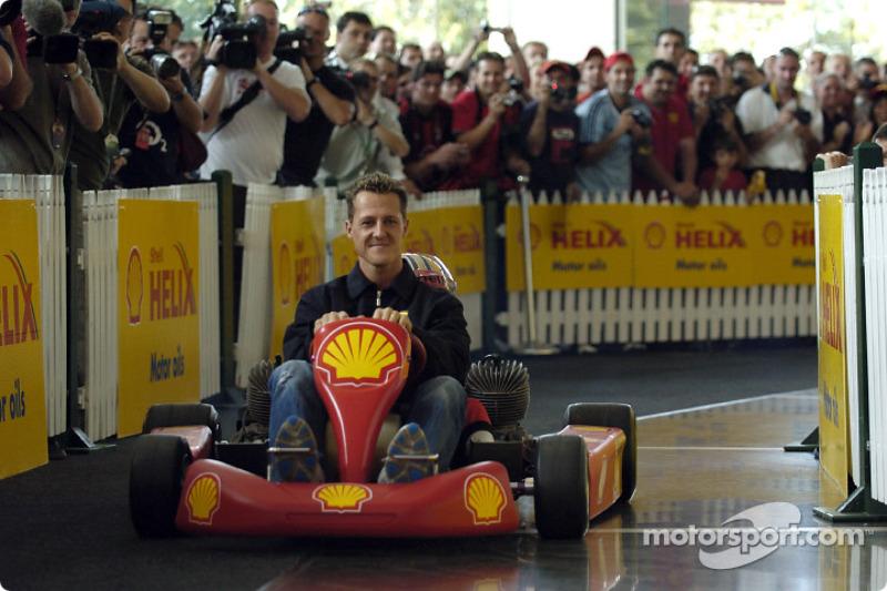 Shell basın toplantısı: Michael Schumacher