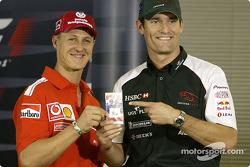 Thursday basın toplantısı: Michael Schumacher ve Mark Webber