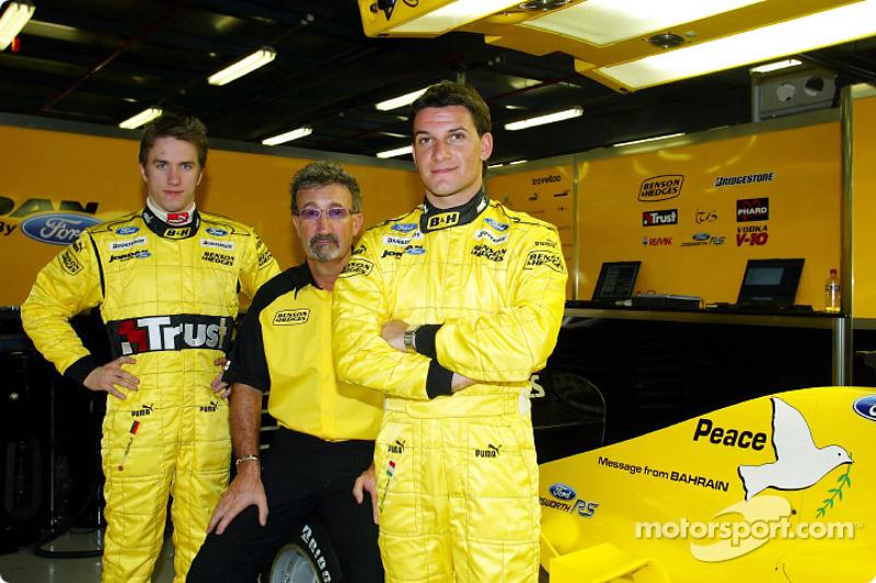 Nick Heidfeld, Eddie Jordan et Giorgio Pantano