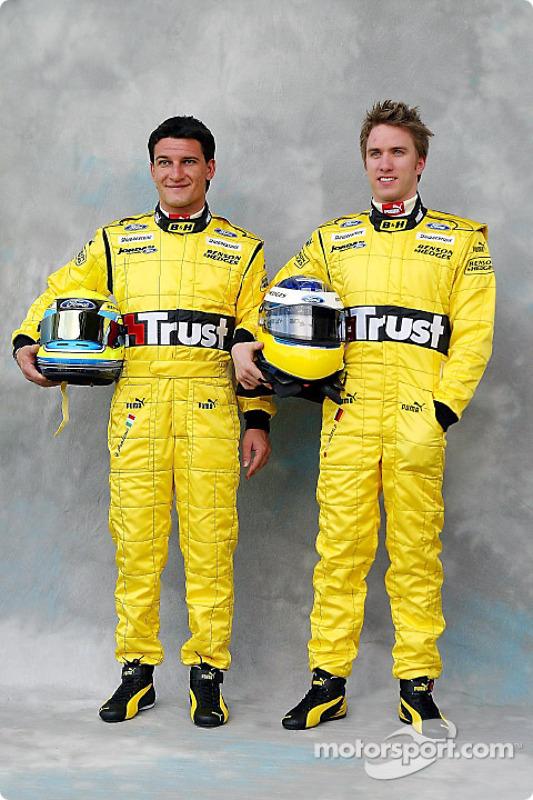 Photoshoot : Giorgio Pantano et Nick Heidfeld