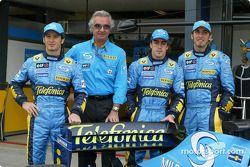 Jarno Trulli, Flavio Briatore, Fernando Alonso ve Franck Montagny