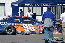 La voiture accidentée de Gus Wasson