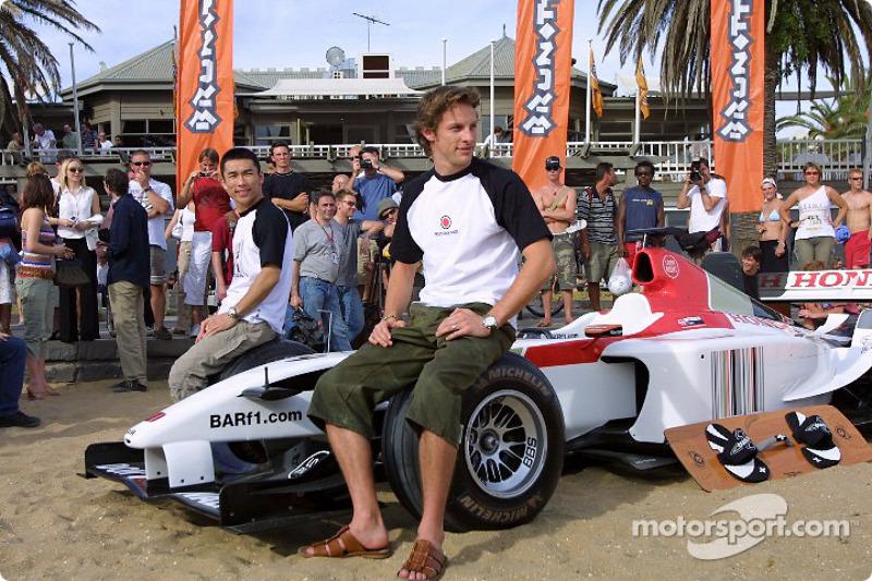 BAR photoshoot: Takuma Sato and Jenson Button