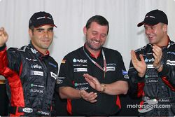 Zsolt Baumgartner, Paul Stoddart and Gianmaria Bruni