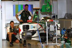 Área de garage de Jaguar