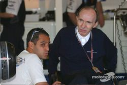 Juan Pablo Montoya y Frank Williams