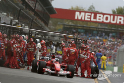Pitstop de Rubens Barrichello