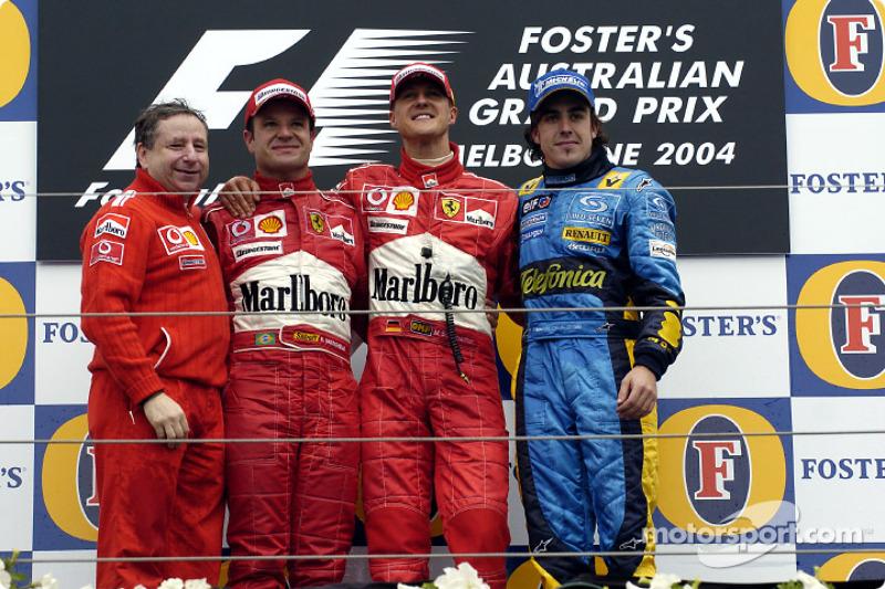 6- Fernando Alonso, 3º en el GP de Australia 2004 con Renault
