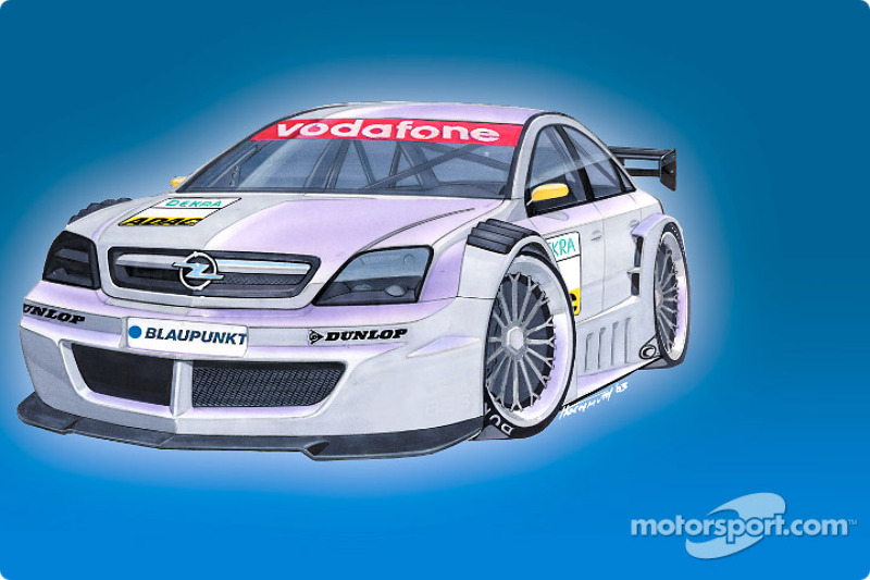 Rendering of the Opel Vectra GTS V8 DTM 2004