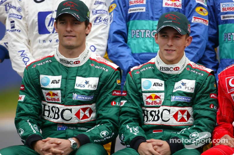 Foto de pilotos: Mark Webber y Christian Klien