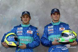 Sessão de fotos: Felipe Massa e Giancarlo Fisichella