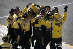 L'équipe Roush Racing fête la victoire
