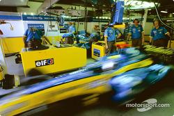 Jarno Trulli leaves garage