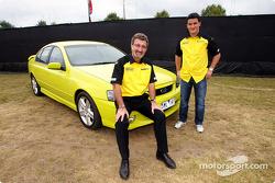 Eddie Jordan et Giorgio Pantano à un évènement promotionnel