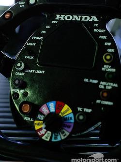 Le volant de la BAR-Honda