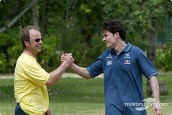 Sauber training in Kota Kinabalu: Giancarlo Fisichella en fysiotherapeut Josef Leberer