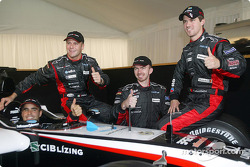 Zsolt Baumgartner, Gianmaria Bruni, Bas Leinders ve Tiago Monteiro ve yeni Minardi PS04B