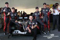 Bas Leinders, Gianmaria Bruni, Paul Stoddart, Zsolt Baumgartner et Tiago Monteiro