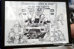 Dibujos animados para M-Sport 100 mundo de rally