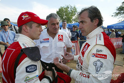 Sébastien Loeb, Guy Fréquelin and Carlos Sainz