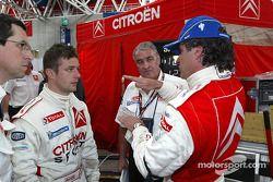 Sébastien Loeb, Guy Fréquelin y Carlos Sainz