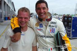 Les équipiers Corvette Racing Jan Magnussen et Max Papis ne montrent aucun ressentiment après leur incident en piste il y a quelques semaines