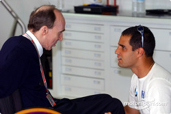 Frank Williams and Juan Pablo Montoya