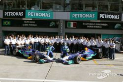 Giancarlo Fisichella, Felipe Massa y el equipo Sauber